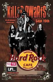 KiLLeR DWaRfS at Hard Rock Cafe Toronto, Ontario, Canada Friday September 19, 2014-promo poster