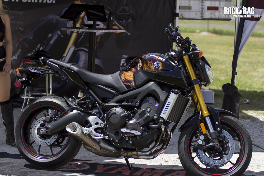 FZ09 custom decorated street bike from Yamaha